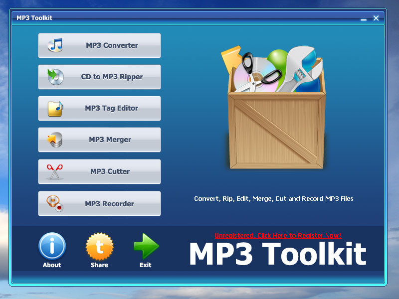 Free Convert, Rip, Cut, Merge, Record MP3 All-in-One.